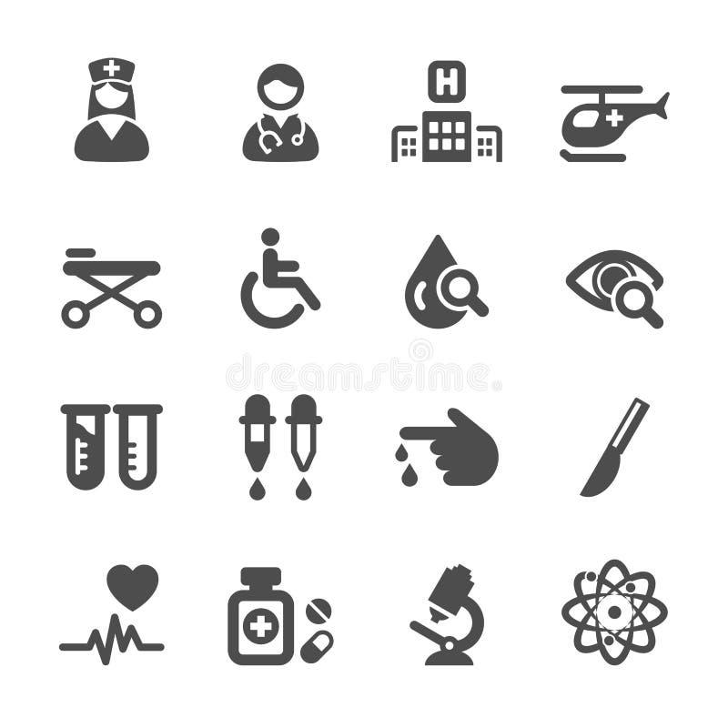 L'icône médicale a placé 2, le vecteur eps10 illustration stock