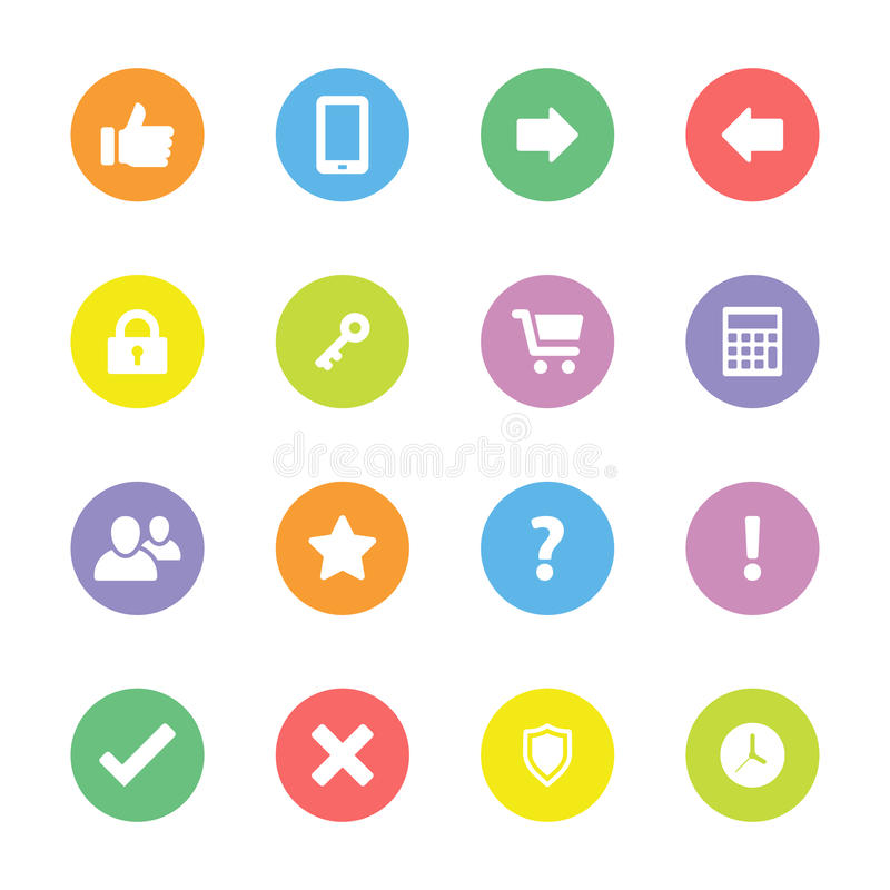L'icône plate simple colorée a placé 2 sur le cercle illustration libre de droits