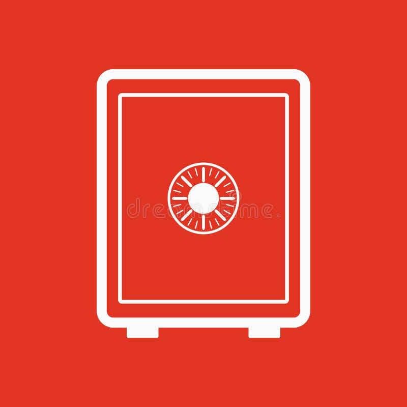 L'icône sûre Symbole sûr plat illustration stock
