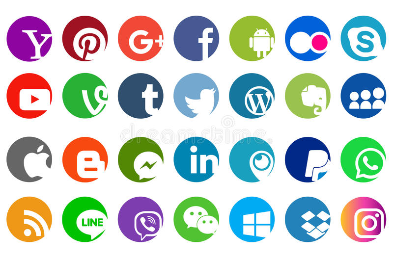L'icône sociale de logo de site Web de media illustration stock
