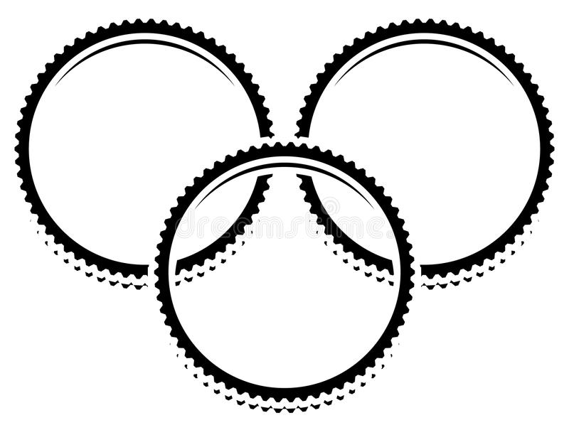 L'icône/symbole/élément avec la vitesse de recouvrement forme trains trois illustration stock