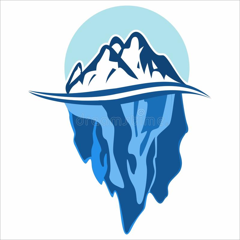 L'iceberg illustrazione di stock