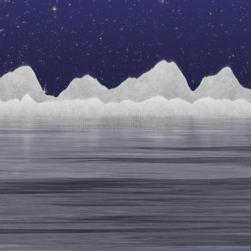 L'iceberg de la nuit illustration libre de droits