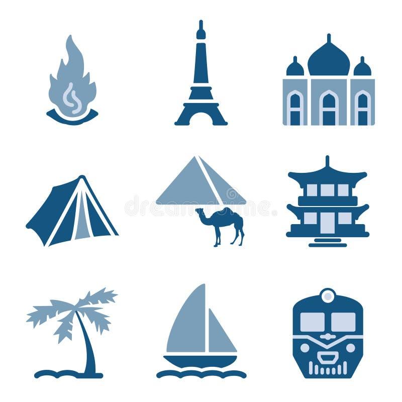 L'icona blu ha impostato 22 royalty illustrazione gratis