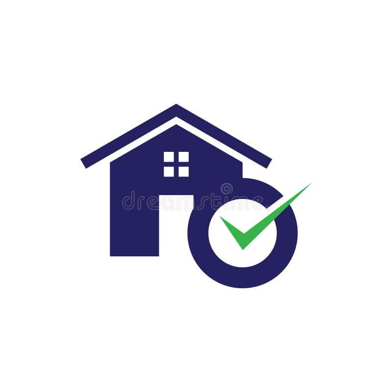 L'icona del bene immobile e dell'alloggio semplice accetta per l'icona di web o il cellulare APP illustrazione di stock