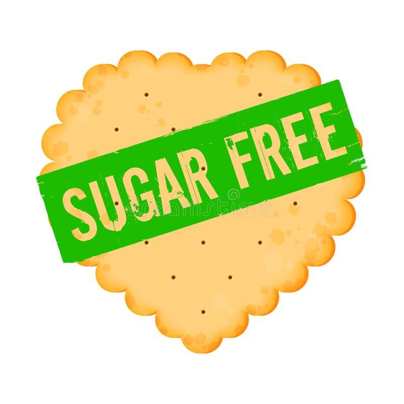 L'icona del cracker con le parole zucchera liberamente illustrazione vettoriale