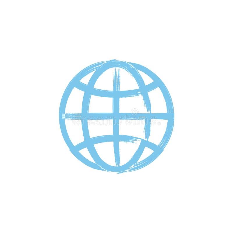 L'icona del globo Simbolo del globo illustrazione di stock