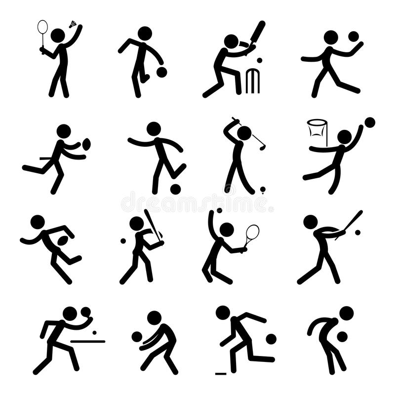 L'icona del pittogramma di sport ha impostato 01 royalty illustrazione gratis