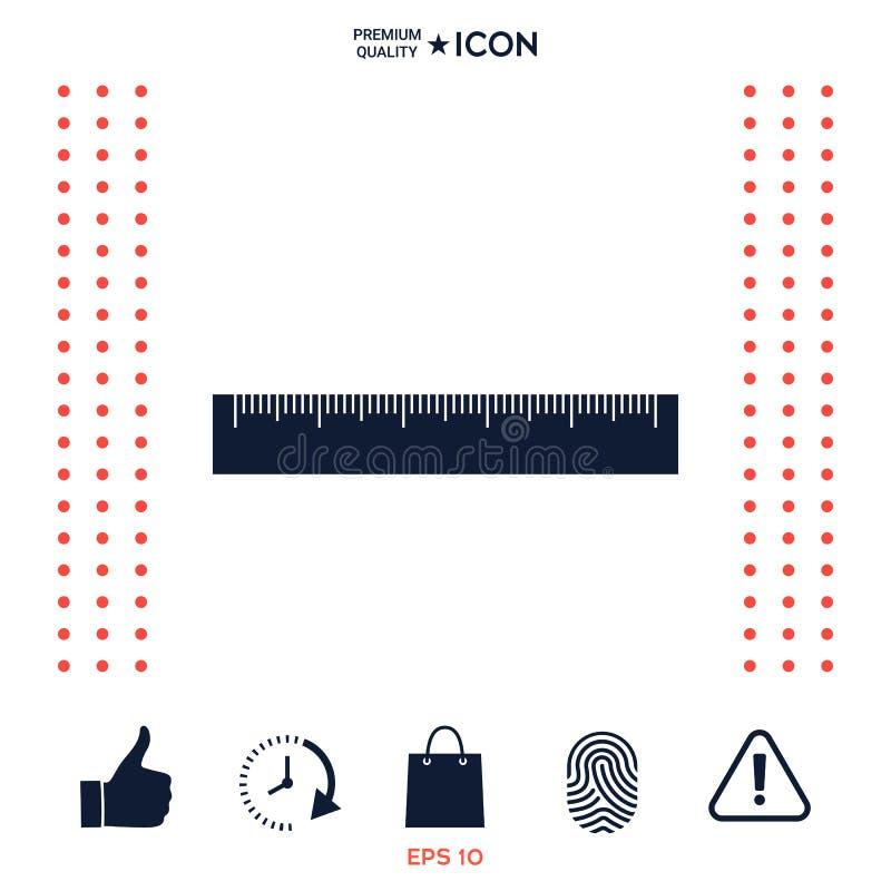 Download L'icona del righello illustrazione vettoriale. Illustrazione di regola - 117977377