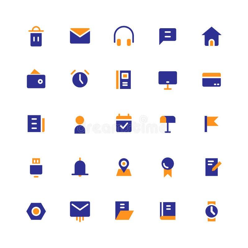 L'icona dell'interfaccia utente fissa il vettore solido illustrazione di stock