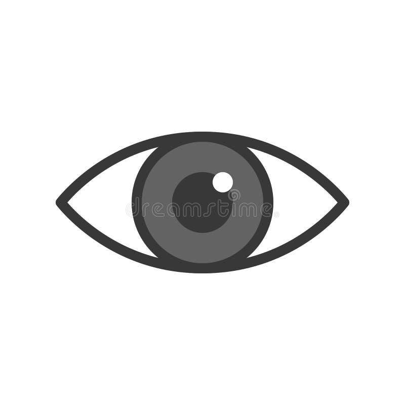 L'icona dell'occhio, ha riempito il profilo medico e l'insieme dell'organo royalty illustrazione gratis