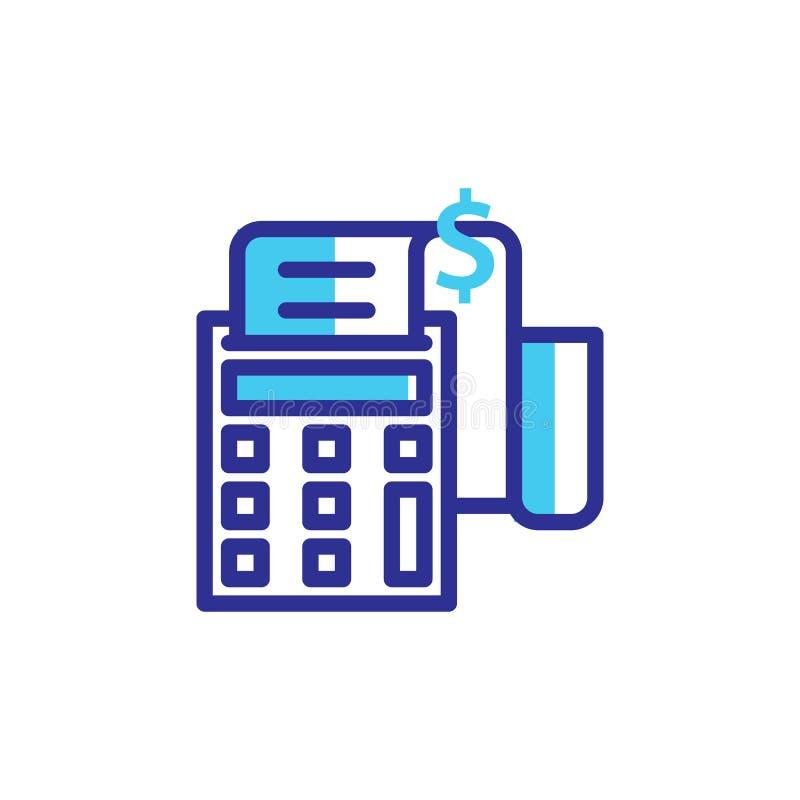 L'icona della fattura e di pagamento ha riempito la linea illustrazione vettoriale