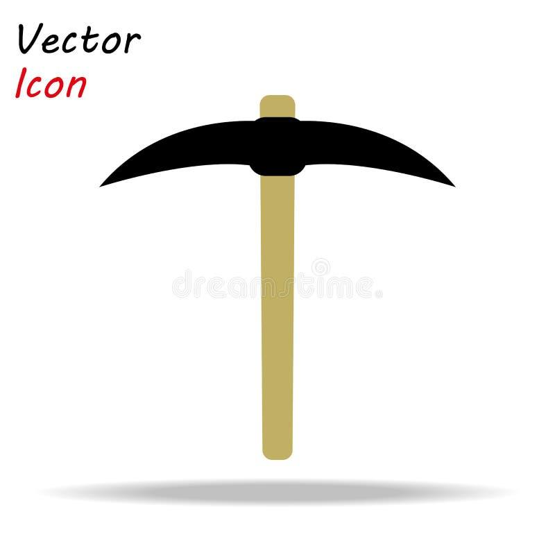L'icona della scelta Simbolo del piccone Illustrazione piana ENV 10 di vettore royalty illustrazione gratis