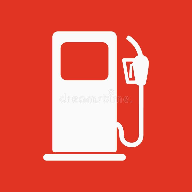 L'icona della stazione di servizio Simbolo del combustibile diesel e della benzina piano illustrazione di stock