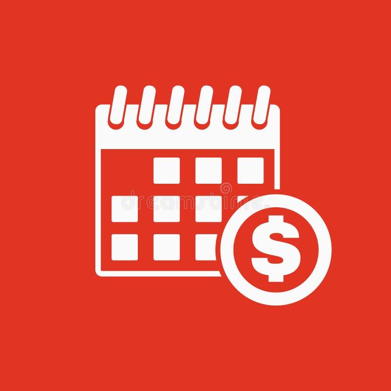 L'icona di giorno di paga Tassa e pagamento, simbolo di dividendi illustrazione vettoriale