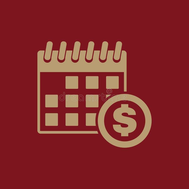 L'icona di giorno di paga Tassa e pagamento, simbolo di dividendi piano royalty illustrazione gratis