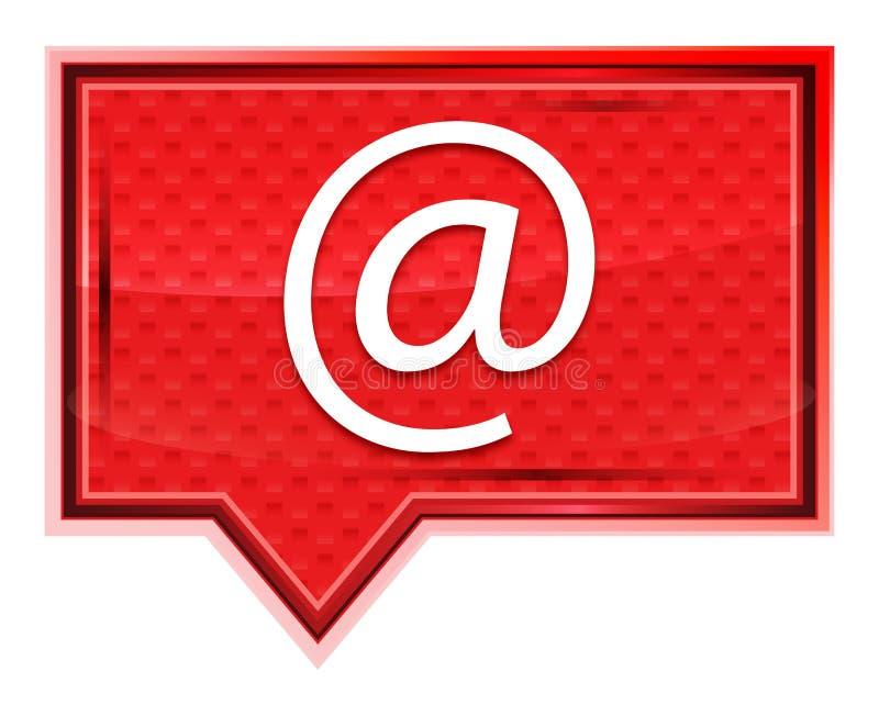 L'icona di indirizzo email nebbiosa è aumentato bottone rosa dell'insegna illustrazione di stock