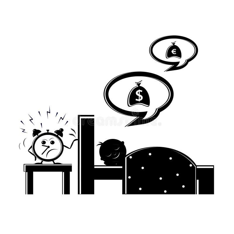 L'icona di pigrizia illustrazione vettoriale