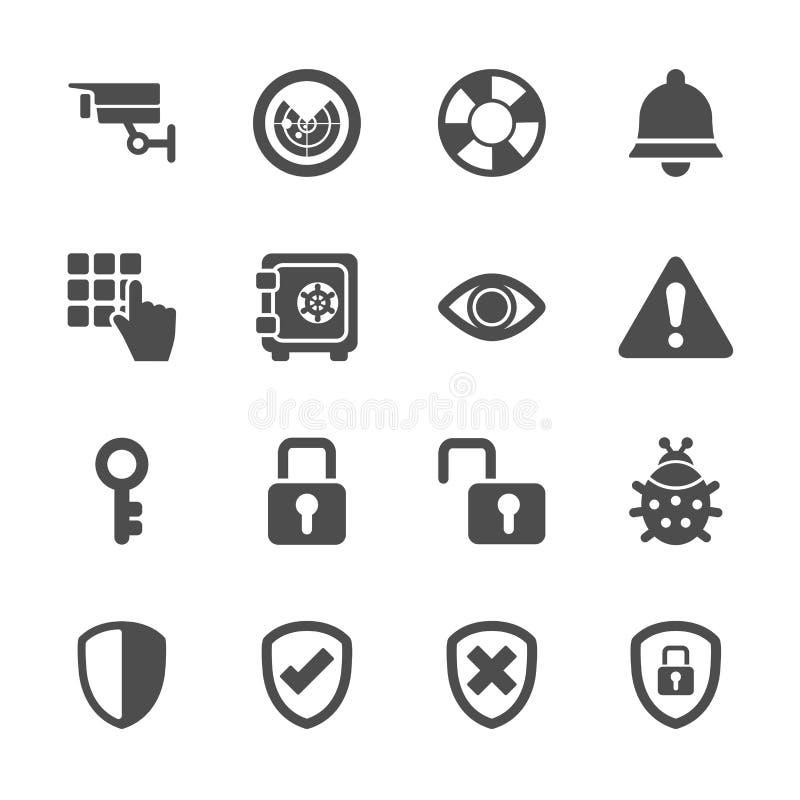 L'icona di sicurezza ha messo 2, il vettore eps10 illustrazione di stock