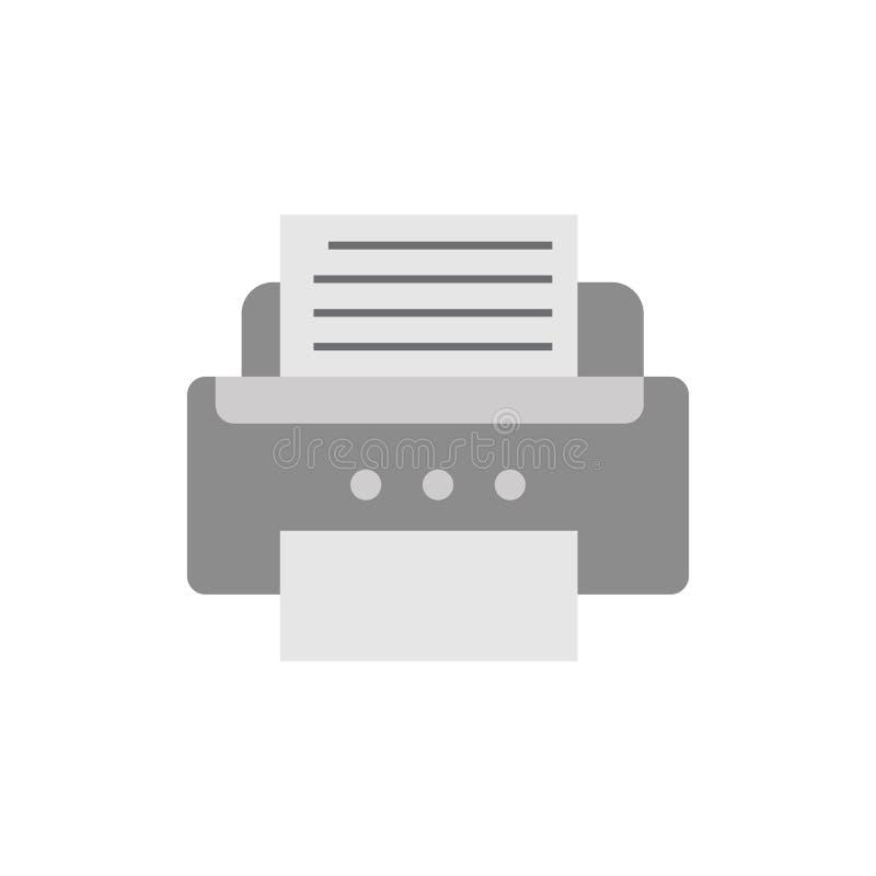 L'icona di stampante piana, vettore ha isolato l'illustrazione royalty illustrazione gratis