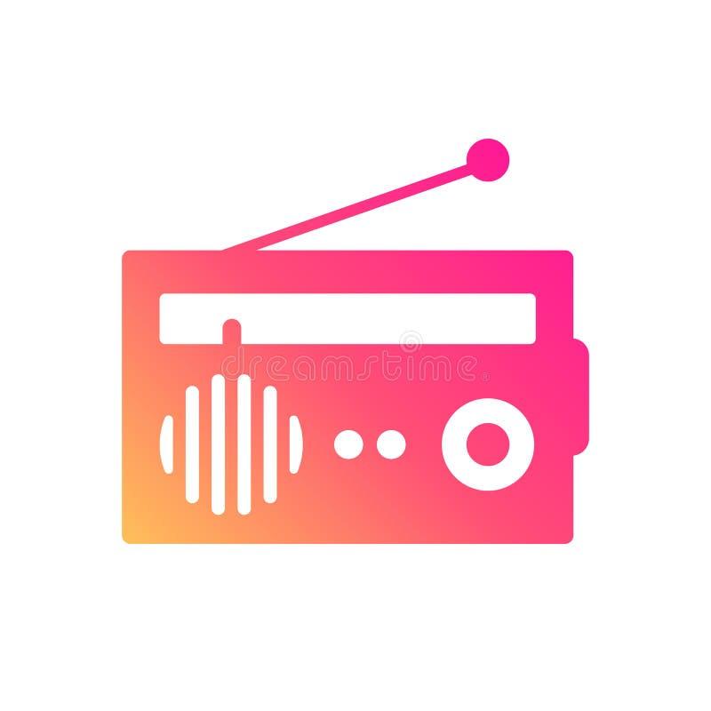 L'icona di tema radiofonica illustrazione di stock