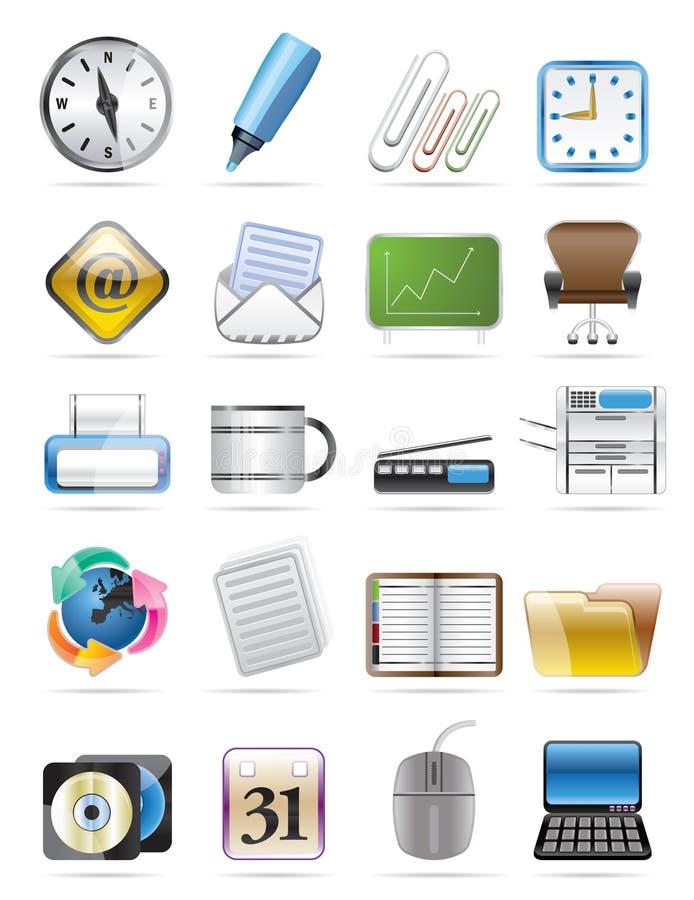 L'icona di vettore degli strumenti dell'ufficio ha impostato 2 royalty illustrazione gratis