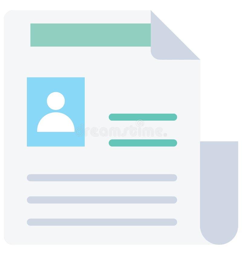 L'icona di vettore del modulo di domanda ha isolato l'icona di vettore che può modificare o pubblicare facilmente illustrazione di stock