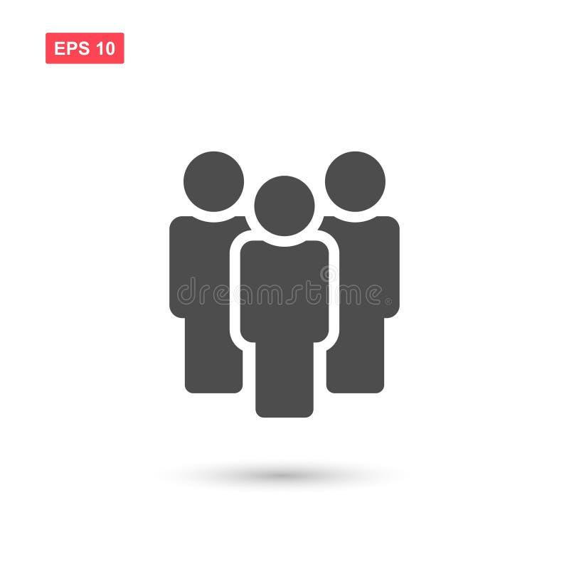 L'icona di vettore della gente del gruppo ha isolato royalty illustrazione gratis