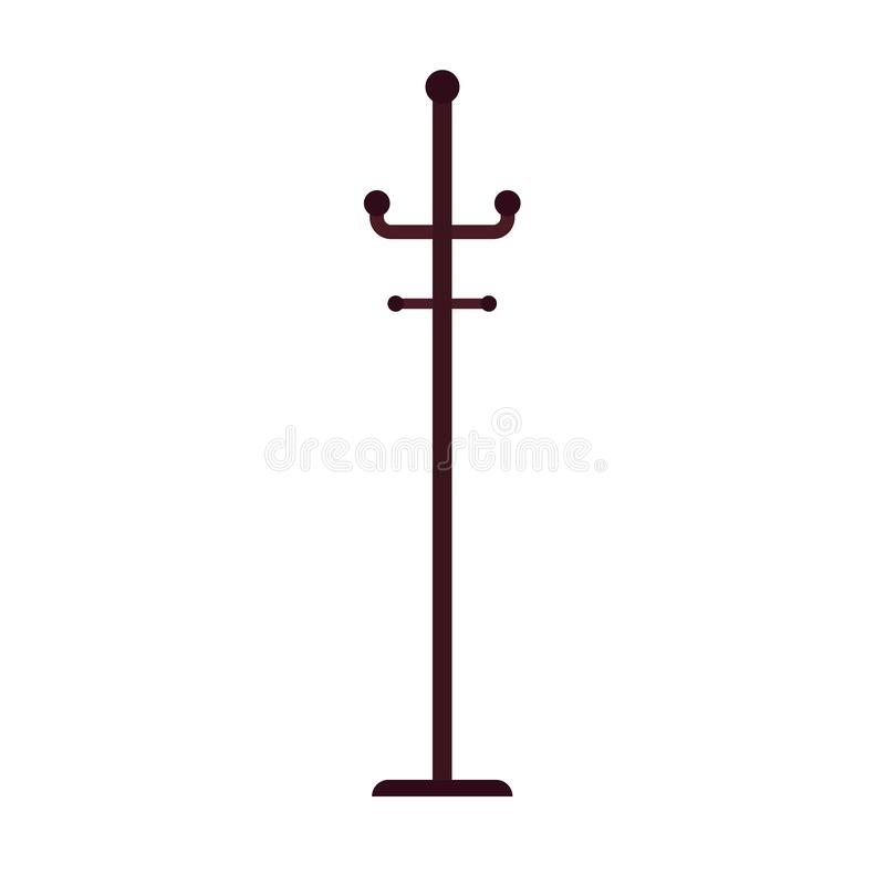 L'icona di vettore della gruccia per vestiti ha isolato bianco Guardaroba di simbolo del cappotto del gancio di modo Abito dell'e illustrazione vettoriale