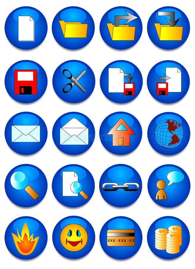 L'icona di Web. illustrazione di stock