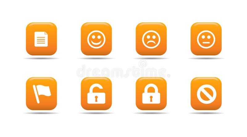 L'icona di Web ha impostato 1| Serie dell'albicocca royalty illustrazione gratis