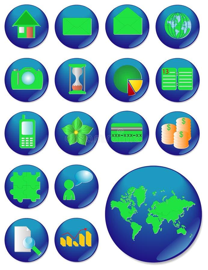 L'icona di Web. immagine di vettore. royalty illustrazione gratis