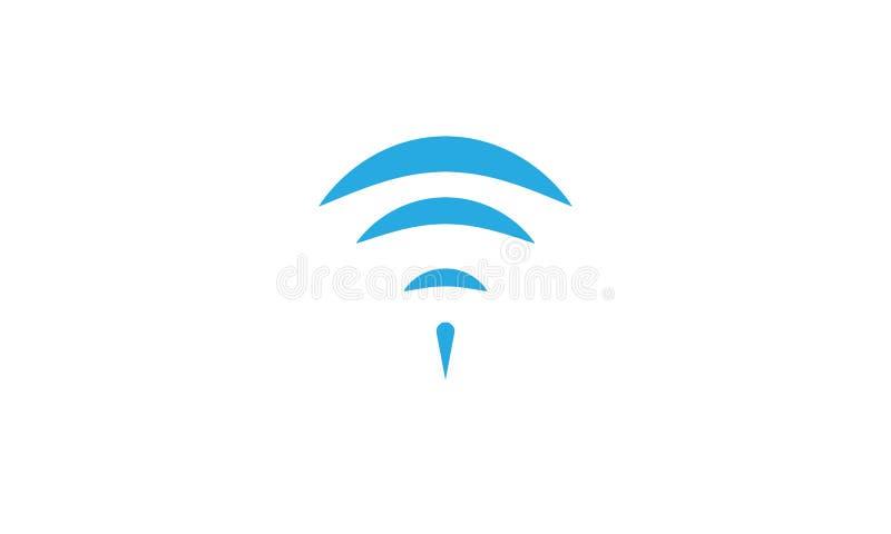 L'icona di Wifi affila illustrazione di stock