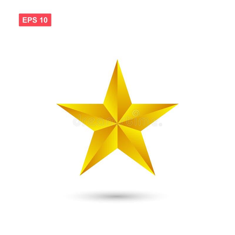 L'icona dorata di vettore della stella ha isolato illustrazione vettoriale