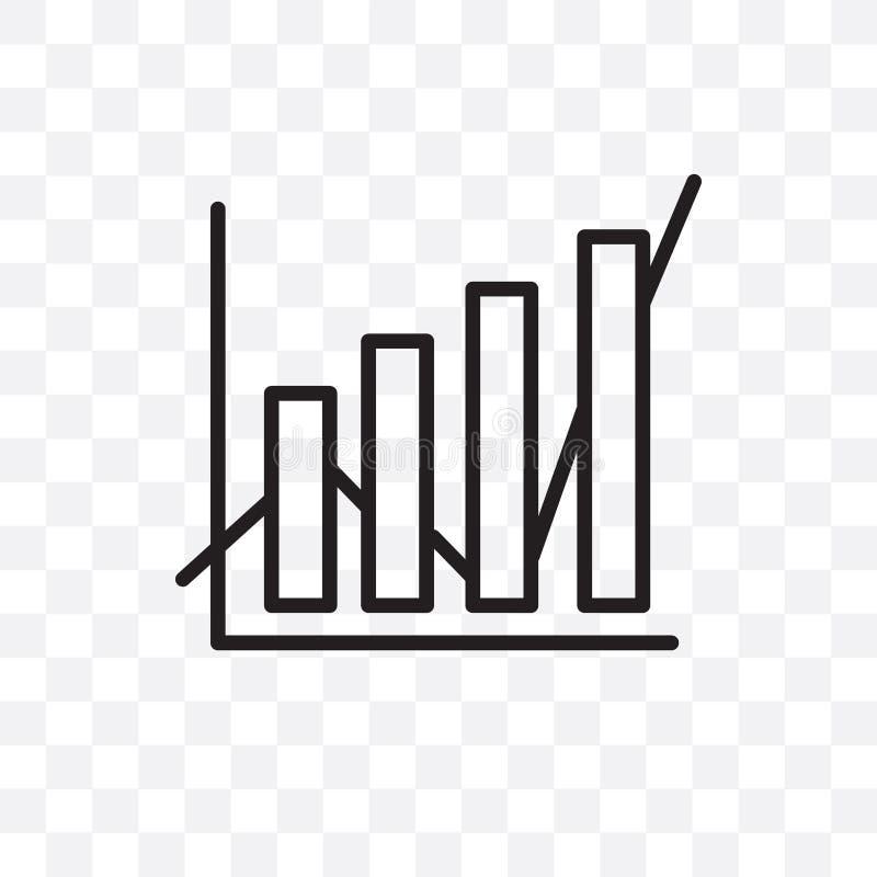 L'icona lineare di vettore di analisi dei dati di dati isolata su fondo trasparente, concetto della trasparenza di analisi dei da illustrazione di stock