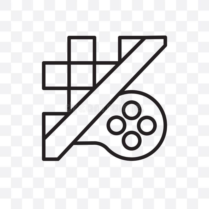 L'icona lineare di vettore del gioco di strategia isolata su fondo trasparente, concetto della trasparenza del gioco di strategia royalty illustrazione gratis