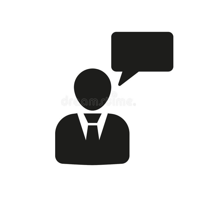 L'icona parlante della gente La conversazione e la comunicazione, messaggio, parlano il simbolo Ui web marchio segno Progettazion royalty illustrazione gratis