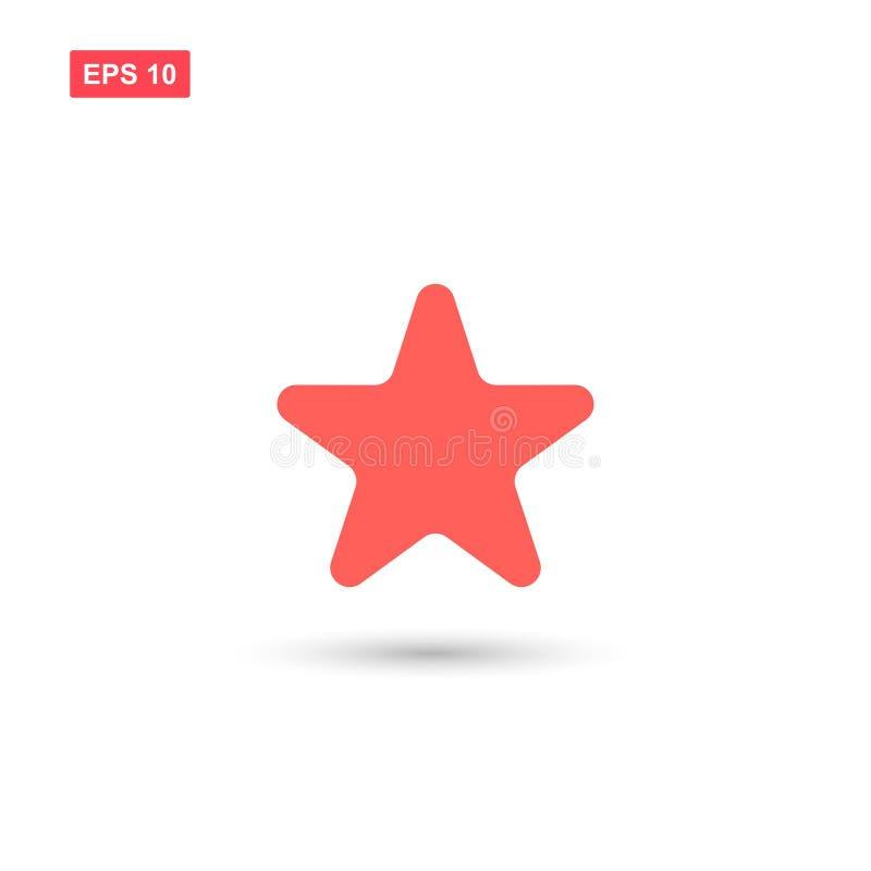 L'icona rosa di vettore della stella ha isolato illustrazione vettoriale