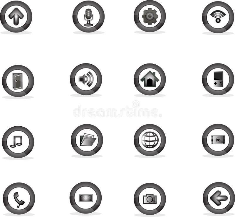 L'icona si applica ai bottoni, illustratore del vectoc fotografia stock
