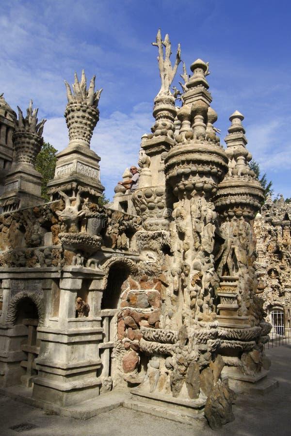 L'idéal de Palais dans Hauterives photo libre de droits