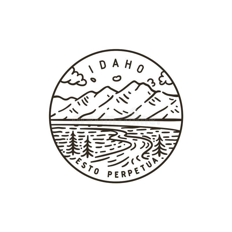 l'idaho Fiume di Teton royalty illustrazione gratis