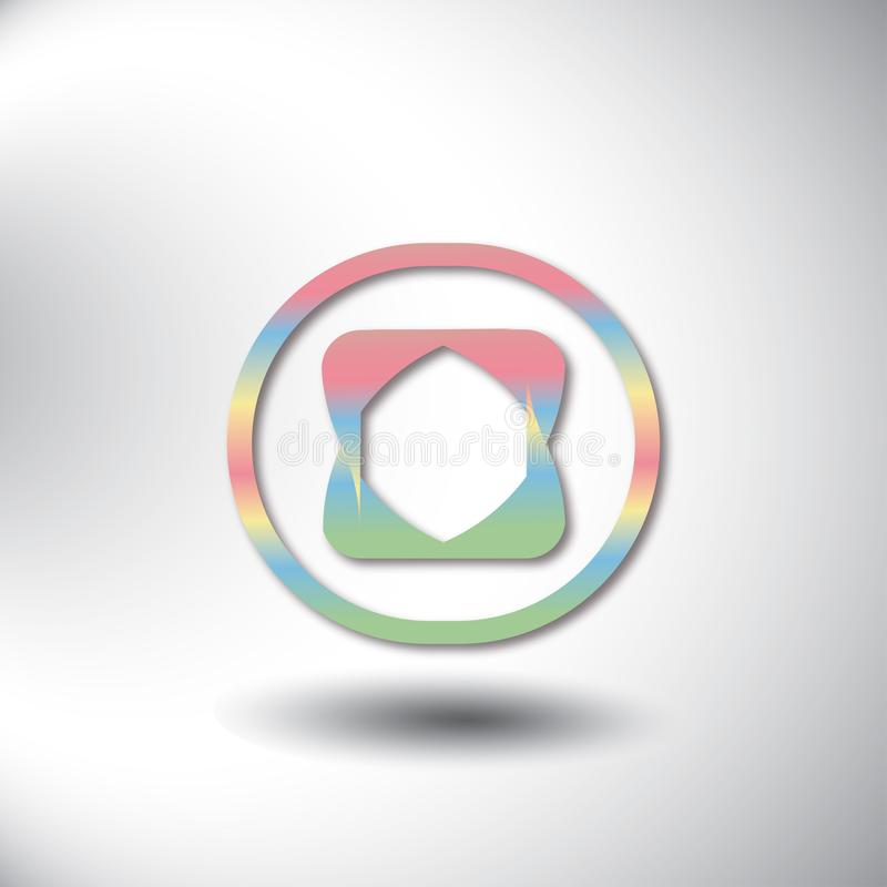 L'idea geometrica di convergenza di progettazione di logo, composizione moderna dell'estratto di colore modella royalty illustrazione gratis
