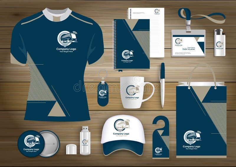 L'identità corporativa di affari degli articoli da regalo, Vector il colore che astratto i ricordi promozionali progettano con gl illustrazione vettoriale