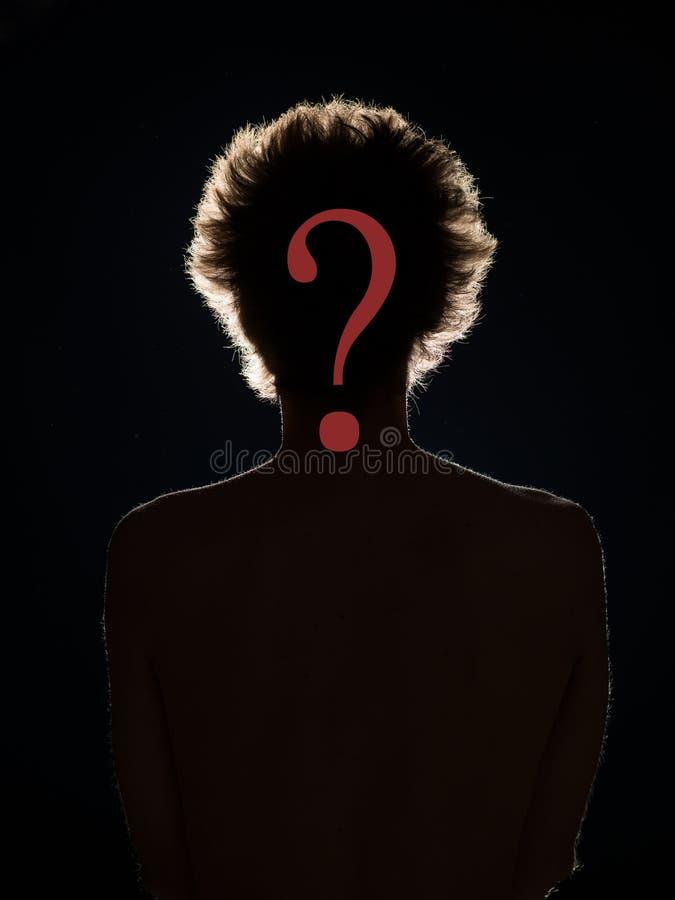 L'identità nascosta, chi è questa persona? fotografia stock libera da diritti