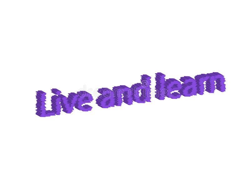 L'idioma dell'illustrazione scrive in tensione ed impara isolato in una parte posteriore di bianco illustrazione vettoriale