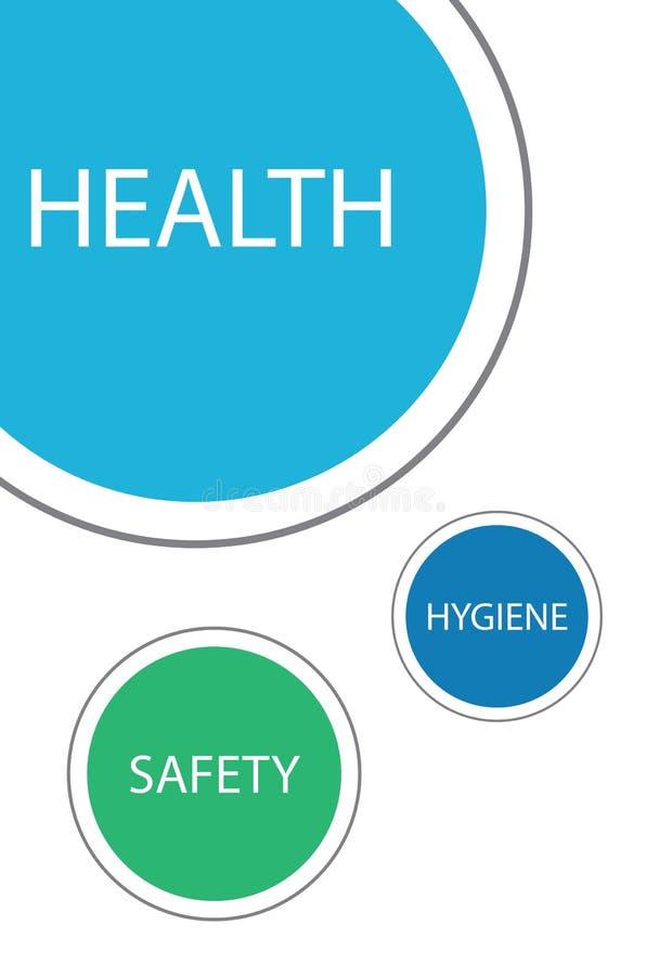 L'igiene e la sicurezza proteggono la salute illustrazione di stock