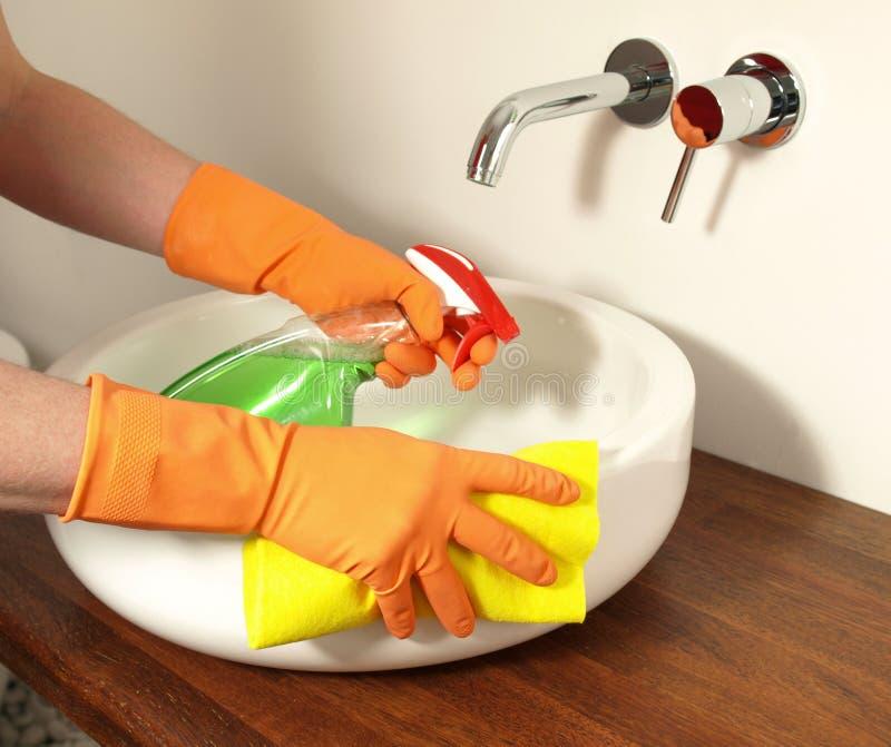L'igiene nel bagno fotografia stock