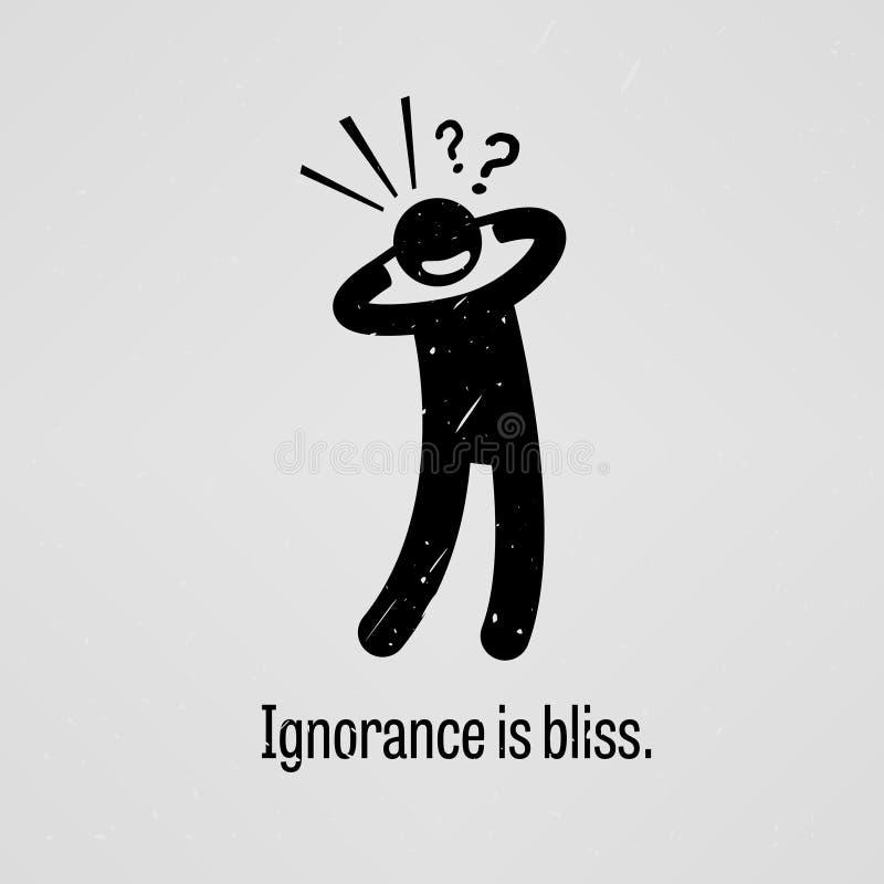 L'ignoranza è beatitudine illustrazione di stock