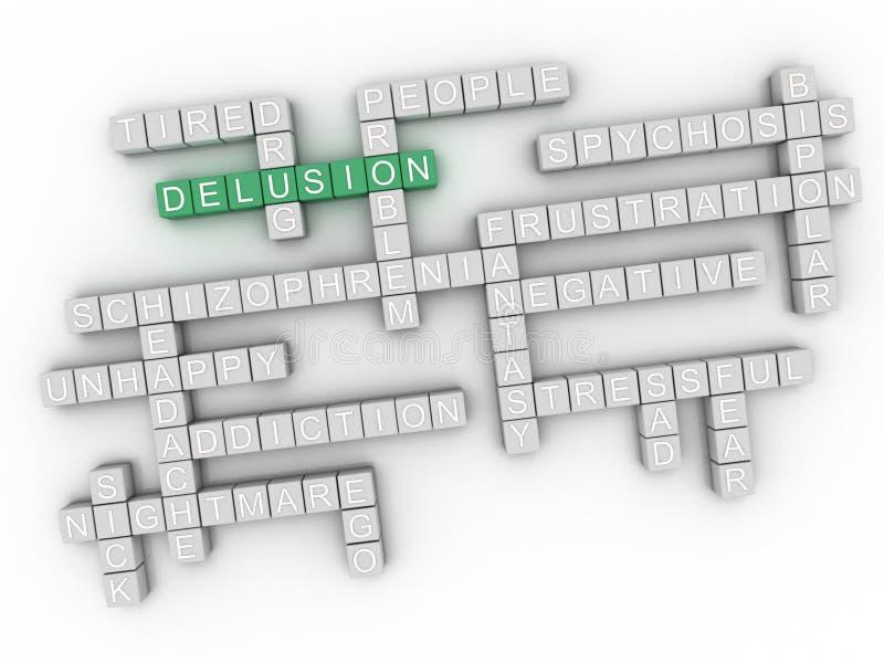 l'illusion de l'image 3d publie le fond de nuage de mot de concept illustration de vecteur