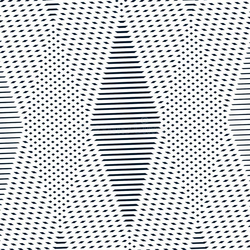 L'illusion optique, fond de vecteur de moirage, soustraient le monoch rayé illustration libre de droits